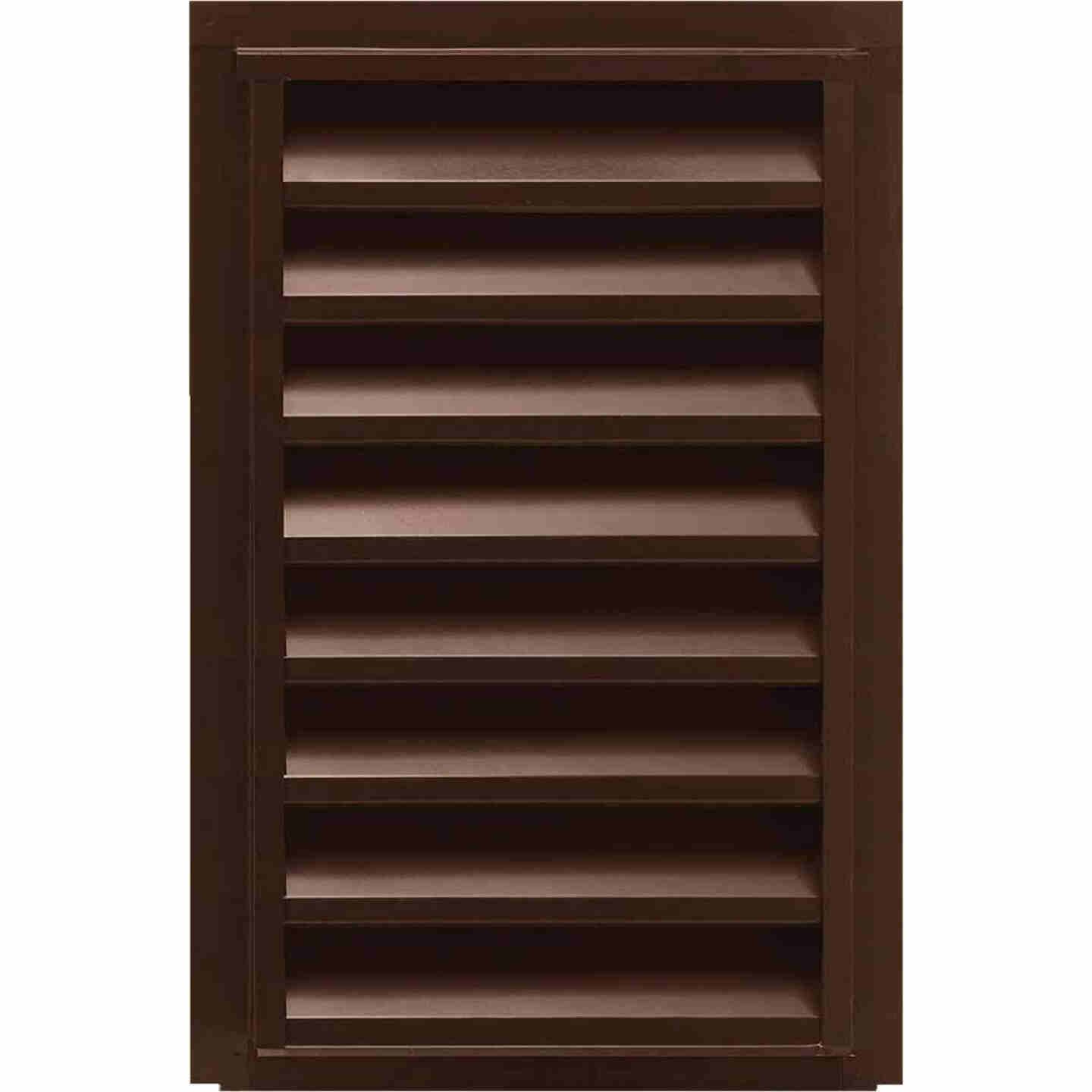 "NorWesco 14"" x 24"" Rectangular Brown Gable Attic Vent Image 1"
