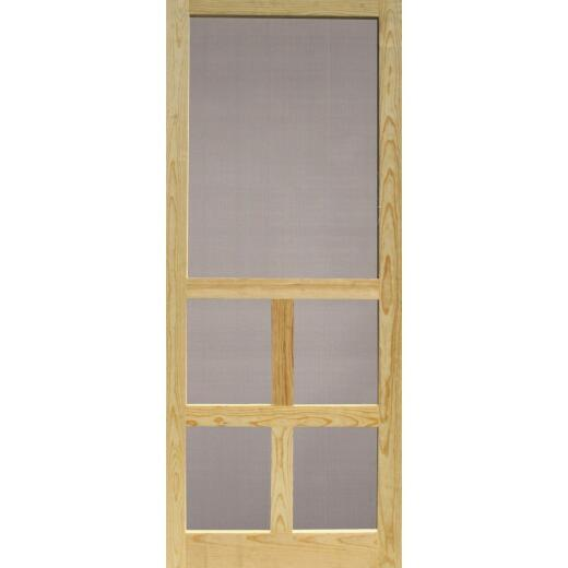 Snavely Victoria 36 In. W. x 80 In. H. x 1-1/8 In. Thick Natural Solid Pine Wood Screen Door