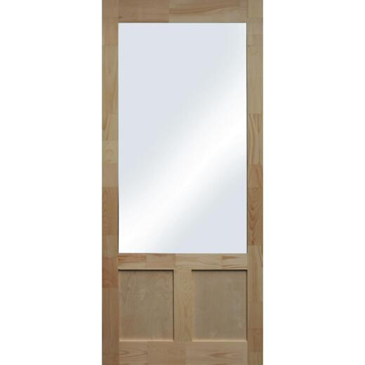 Snavely Kimberly Bay Elmwood 32 In. W. x 80 In. H. x 1-3/8 In. Thick Natural Pine Wood Screen Door