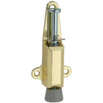 National Brass Door Stop with Lock