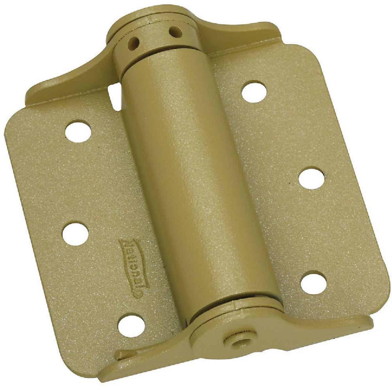 National 3 In. BakEnamel Brass Full-Surface Spring Door Hinge (2-Pack) Image 1