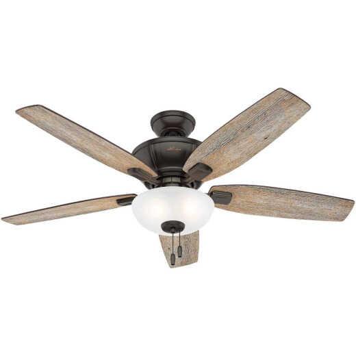 Hunter Kenbridge 52 In. Noble Bronze Ceiling Fan with Light Kit