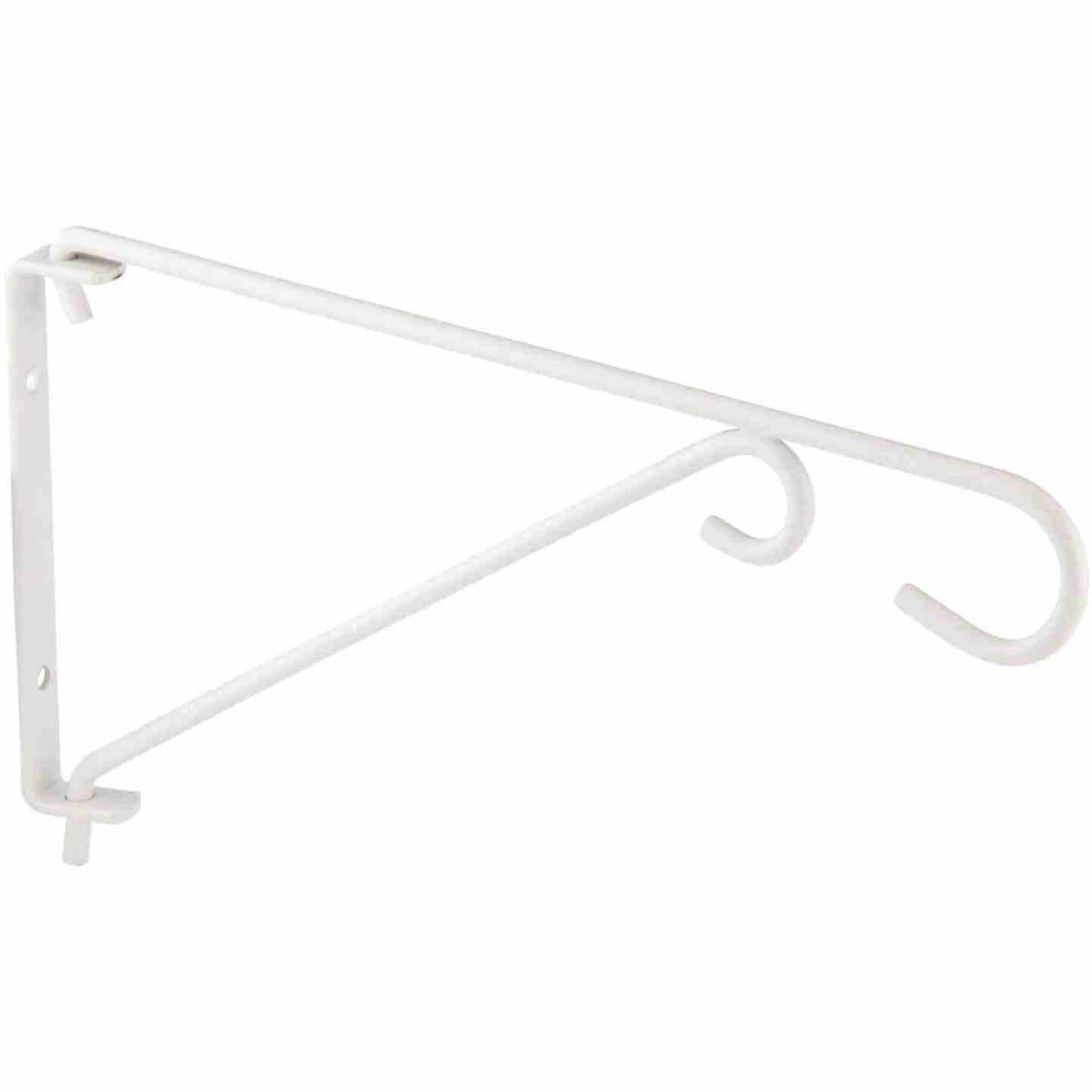 National 9 In. White Steel Swivel Hanging Plant Bracket Image 4