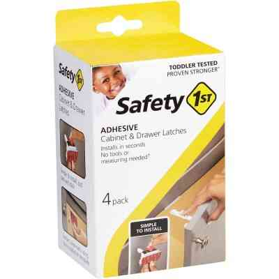 Safety 1st Adhesive Cabinet & Drawer Lock & Latch (4-Pack)